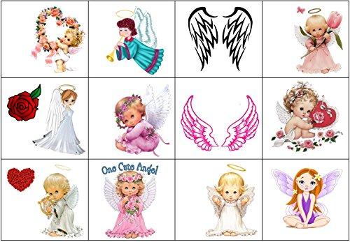 Collezione di tatuaggi temporanei temporary tattoos collection (tatuaggio di angelo0 angel tattoo)