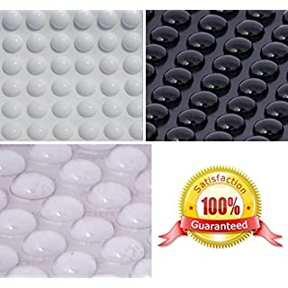 BLACK, CLEAR or WHITE ~ 3M Rubber Feet ~ 11mm Dia x 5mm High ~ Silicone Pads for Electronics, PC, Laptops, Mobile Phones, Tablets (Clear, 100 Individual Bumpons)
