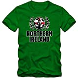 Nordirland EM 2016 #2 T-Shirt | Fußball | Herren | Green & White Army | Trikot | Nationalmannschaft, Farbe:Hellgrün (Kelly Green L190);Größe:M