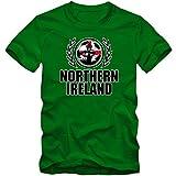 Nordirland EM 2016 #2 T-Shirt | Fußball | Herren | Green & White Army | Trikot | Nationalmannschaft, Farbe:Hellgrün (Kelly Green L190);Größe:L