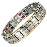 MPS Titan 4 Elements magnetische Armband für Männer, Mit leistungsstarke 3000 Gauß Magneten - Mit Einer Kostenlosen Tool, um Links zu entfernen - Mit gratis Geschenk Beutel