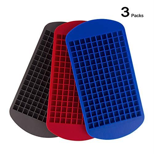 Hivexagon 3 Pezzi Stampi per Ghiaccio in Silicone Mini Forma Quadrata Cubetto di Ghiaccio Vassoi Candy Cioccolato Stampi Grande...