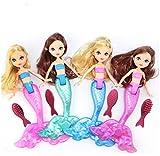 Bambola Impermeabile con Pettine, giocattolo da Bagno, Accessori per Ragazze, Regali A