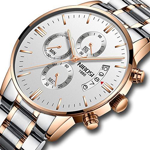 Herren Uhren Männer Militär Wasserdicht Chronographen Luxus Design Große Edelstahl Armbanduhr Herrenuhr Sport Business Datum Kalender Stopuhr Analog Quarz Uhren
