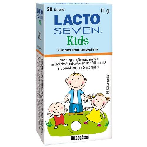LACTO SEVEN Kids Erdbeer-Himbeer-Geschmack Tabl. 20 St Tabletten