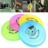 Autone, frisbee, popolare giocattolo volante in plastica a forma di disco per l'allenamento di cani adulti o cuccioli, dimensione: circa 20cm