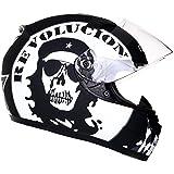 Römer Helmets Casque de Moto Révolution, Noir/Blanc Graphique, M