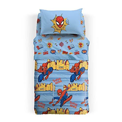 Caleffi copriletto spiderman singolo piquet spiderman new york copriletto estivo