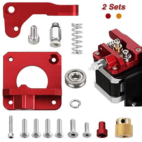 Anpro 2Stk 3D-Druckerteile MK8 Extruder Bausatz, Aluminium Bowden Extruder, 1,75 mm Filament für Creality 3D CR-10 Serie und andere 3D Drucker, Rechte Hand
