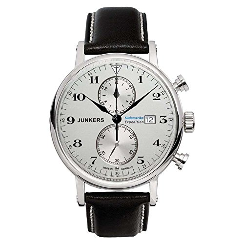 Junkers Men's Quartz Watch with Chronograph Quartz Leather 65861