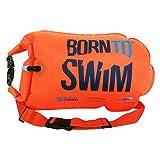 BornToSwim Safer Swimmer Trockentasche und Schwimmboje (Robust) Boje und Packsack für Offenen Gewässern Schwimmer und Triathleten, Orange, 64 x 30 x 0.05 cm