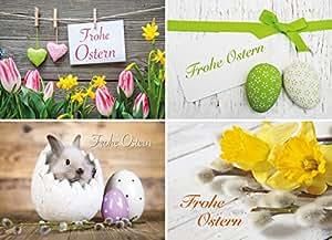 Osterkarten-Set mit 20 Osterpostkarten - 4 Motive mit jeweils 5 Osterkarten