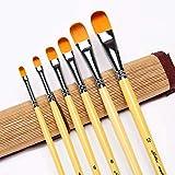 Set di pennelli da pittura e per filettare Artway piatto lingua di gatto da stesura Confezione da 7 con: pennello tondo