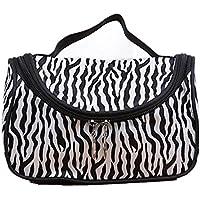 EQLEF® Cosmetic Bag 1 pezzo di alta capacità Zebra Stripes Portable