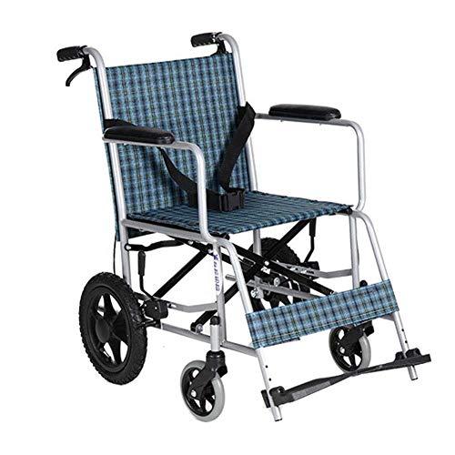 TPKNG Leichter Selbstfahrender Rollstuhl Tragbare Leichte Stuhl-Reisebremse Für Kompakten Innentransport Und Einfache Lagerung