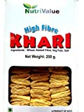 #9: Nutrivalue Whole Wheat High Fiber Khari No Maida Sehat Jyada 200 Gr ( Pack of 3 )