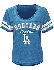 "Los Angeles Dodgers Mujer Majestic MLB ""Loving el Juego Mezcla de"" Dual Camisa, MLB, color , tamaño XL"