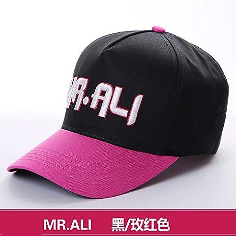 Dngy*Cappelli invernali bambini marea cappello da baseball donna elegante protezione solare lettera cappuccio ricamato visiera CAPPELLI , nero ardesia