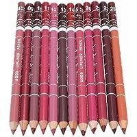 MRbe, Set di matita e rossetto per labbra, colori professionali e di lunga durata, impermeabili, con coperchio, per il make up