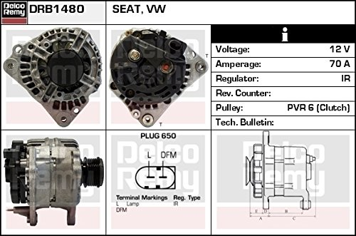 DELCO REMY DRB1480 Alternatore