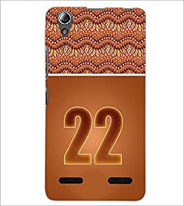 PrintDhaba Numerology Number 22 D-3657 Back Case Cover for LENOVO A6000 (Multi-Coloured)