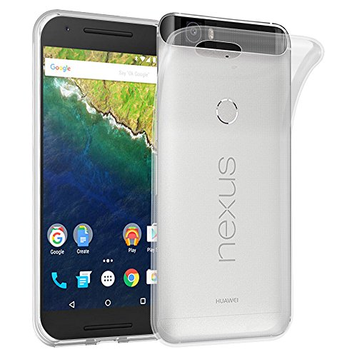 Cadorabo Hülle für Huawei Nexus 6P - Hülle in VOLL TRANSPARENT - Handyhülle aus TPU Silikon im Ultra Slim 'AIR' Design - Silikonhülle Schutzhülle Soft Back Cover Case Bumper
