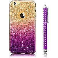 iPhone 6S plus Custodia, Sunroyal® UltraSlim Bling Soft Mat TPU Silicone Case Cover per Apple (Viola Nuovo Pennino)