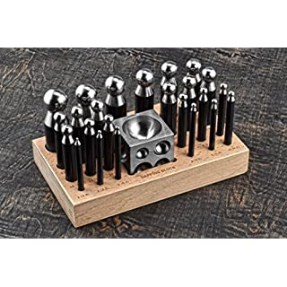 SE JT3405DS Doming Punch and Dapping Block Set (25 PC.)
