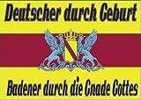 Baden Gnade Gottes Bootsfahne Flagge Grösse ca. 30x45cm Badische Fahne