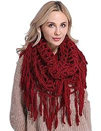 da269c7c95f7 Echarpe Chaude Femme Hiver Tissée Portage Vintage Grande Chale au Crochet  Laine Tricotée Oversize Mode Foulard