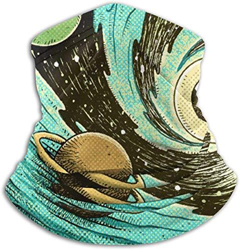 Jxrodekz Psychedelisch Abstrakt Augapfel Spirale Universum Planeten Outdoor Kopfbedeckung Fleece Nackenwärmer Komfortable Nackenwärmer Gesicht M