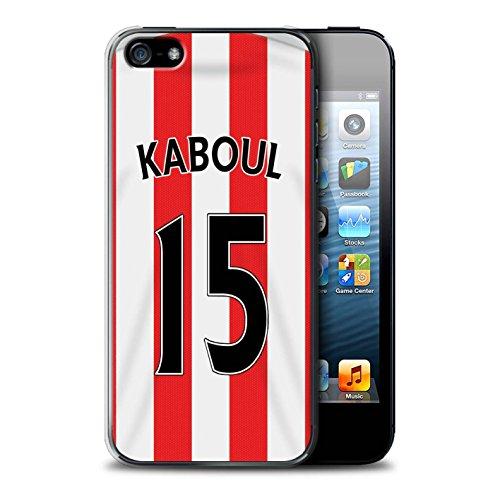 Offiziell Sunderland AFC Hülle / Case für Apple iPhone 5/5S / Pack 24pcs Muster / SAFC Trikot Home 15/16 Kollektion Kaboul