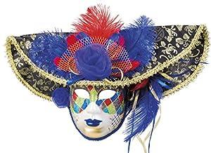 Boland 00206Máscara Venice Jester Deluxe, Disfraz, One Size