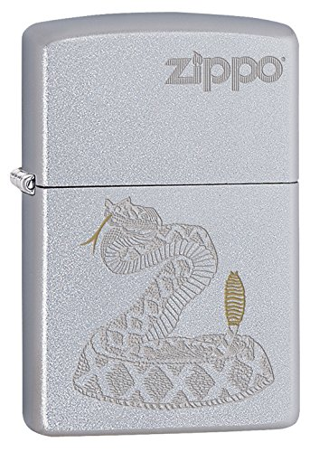 Ton-finish (Zippo 16857 Two Tone Snake - Satin Finish - Spring 2017 Feuerzeug, Chrom, Silber, 5.8 x 3.8 x 2.0 cm)