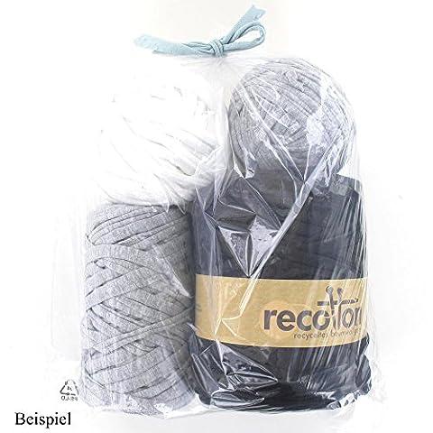 NEXT ReCotton Stoffgarn 1kg Mix uni grau-schwarz-weiß