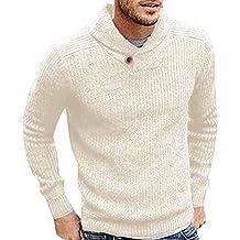 ¡Gran promoción!Camisas para Hombre Rovinci Guapo Invierno cálido Manga  Larga Color sólido Suéteres 39ce363e66025