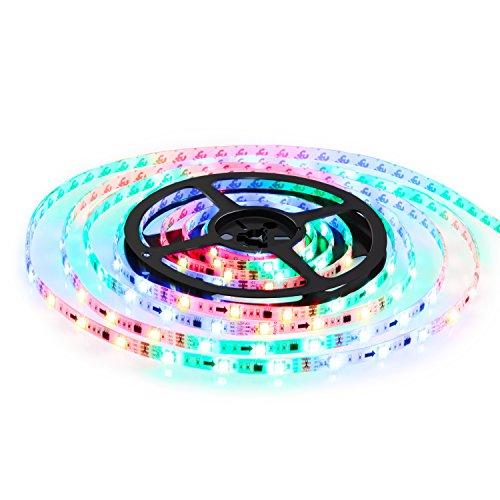 Albrillo RGB LED Strip 12V 150 LEDs 5M SMD5050 mit Fernbedienung & Adapter