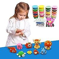 Baba para niños no tóxicos: Incluye 6 colores de barro de arcilla de cristal, 2500PCS decoración de la cara de fruta fresca, bolas de espuma de colores de 5000PCS, 4 botellas de jarras de brillo para de Creation