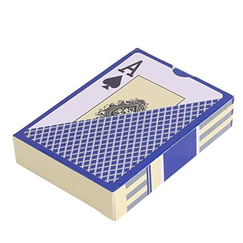 Hermosairis Wasserdichte dauerhafte PVC-Scheuertyp-Plastikspielkarte-Neuheits-Poker-Karte Pokerstar-Brettspiel für Texas-Spiel