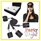 Set di maschere per occhi con fascia da letto, manette con impugnatura a rovescio legate a mano