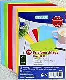 200 (10x 20) farbige Briefumschläge Din C6 bunte Kuvert (DIN C6 | 200 Stück, sortiert)