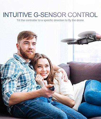 JJRC H47 ELFIE Plus Quadcopter 720P WIFI FPV Faltbare Selfie Drone Mit Gravity Sensor Kopfloser Modus Höhenhaltemodus RTF – Blau - 4