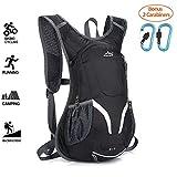 Cylcing Backpack, 15L Bike Backpack, Waterproof Cycling Rucksack with Rain Cover, Ski Rucksack
