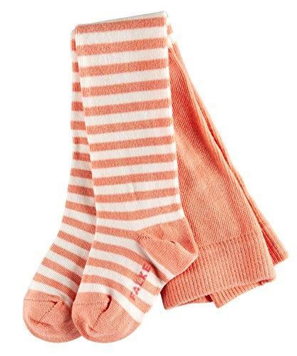 FALKE Unisex Baby Strumpfhose Stripe, Orange (apricot 8790), 80-92 (12-18 mois)