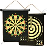Generic Magnetic Reversible Dartboard & Golf Dart Game 6 Darts Roll Up Easy to Store & Play & Safe Traditional Dart Board