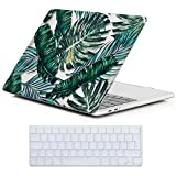 Cover MacBook New Pro 13 Retina Costodia , iCasso Palm Leaf Ultra Sottile Plastica Rigida Shell Snap On Duro Case per MacBook New Pro 13 pollici Retina (Modelli: A1706 / A1708)