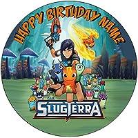 """Slugterra inspirado comestible decoración para tarta para glaseado troquelada–personalizar en la sección de (revisar su orden) """"añadir opciones de regalo"""", 1. Round 7.5inch"""