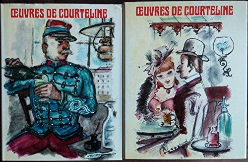 Oeuvres de Georges Courteline illustrées par Dignimont En deux volumes