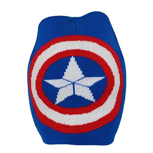 Captain america Childrens/Boys Official Logo Roll Down Beanie Hat