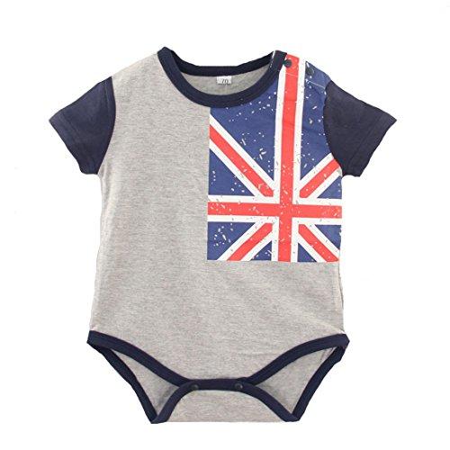 Fairy Baby Kleinkind Jungen Mädchen Body Union Jack Flagge Drucke (Kurzarm, 3-6 Monate) (Kurzarm-union-anzug)